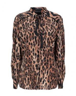 Pубашка DANIELA DREI. Цвет: коричневый