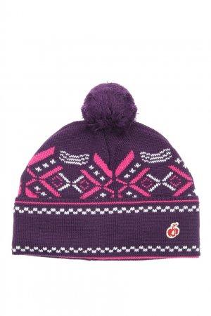 Фиолетовая шапка из шерсти с узором Bosco. Цвет: фиолетовый