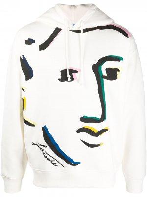 Худи Live Face Design Lacoste. Цвет: белый