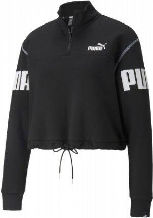 Олимпийка женская Power, размер 44-46 Puma. Цвет: черный