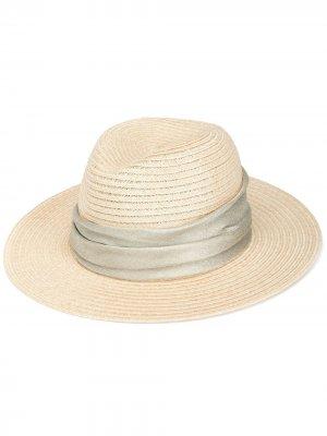 Плетеная шляпа Courtney Eugenia Kim. Цвет: желтый