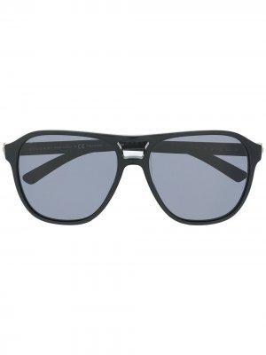Солнцезащитные очки в квадратной оправе Bvlgari. Цвет: коричневый