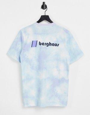 Фиолетовая футболка с принтом тай-дай и логотипом Heritage-Фиолетовый цвет Berghaus