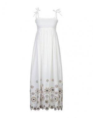 Длинное платье KARTIKA. Цвет: белый