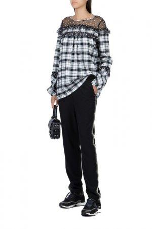 Блуза MYTWIN. Цвет: черный