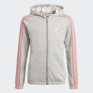 Толстовка Essentials 3-Stripes Performance adidas. Цвет: серый