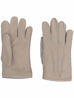 Перчатки с тисненым логотипом Parajumpers. Цвет: нейтральные цвета