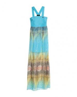 Длинное платье MANGANO. Цвет: бирюзовый