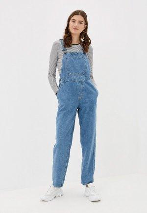 Комбинезон джинсовый Noisy May. Цвет: синий