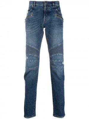Зауженные джинсы Balmain. Цвет: синий