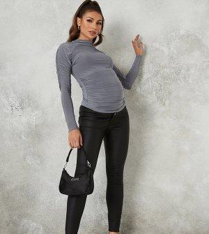 Черные обтягивающие джинсы с покрытием -Черный Missguided Maternity