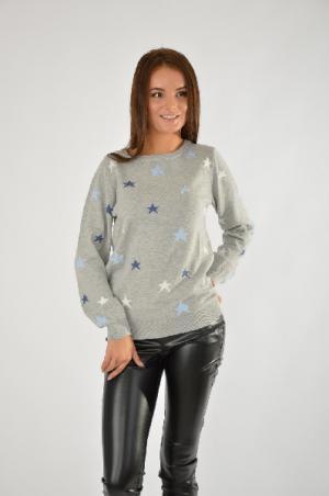 Пуловер CHEER. Цвет: серый