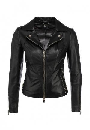 Куртка кожаная Arma AR020EWEOK97. Цвет: черный