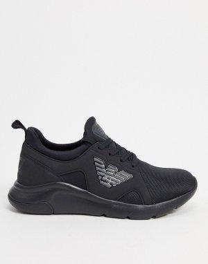 Черные кроссовки с логотипом A-Racer-Черный EA7