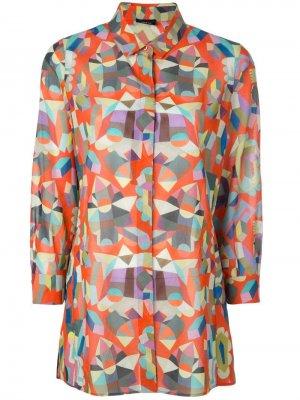 Поплиновая рубашка с принтом Akris