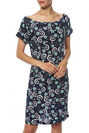 Платье Rocawear. Цвет: синий, бирюзовый