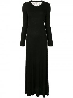 Платье с кружевной вставкой BCBG Max Azria. Цвет: черный