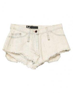 Джинсовые шорты ANDREW MACKENZIE. Цвет: белый