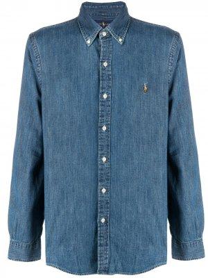 Джинсовая рубашка с логотипом Polo Ralph Lauren. Цвет: синий