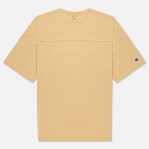 Мужская футболка Garment Dye Crew Neck Champion Reverse Weave. Цвет: бежевый