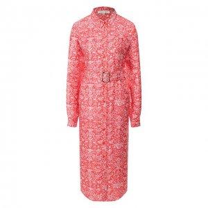 Платье из смеси вискозы и шелка Alexander Terekhov. Цвет: красный