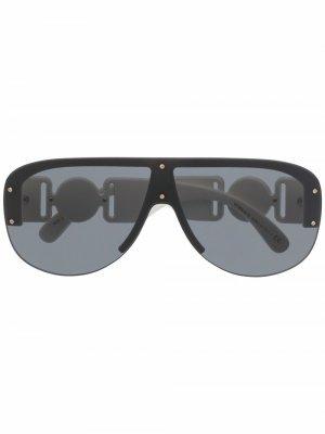 Солнцезащитные очки-авиаторы Versace Eyewear. Цвет: белый