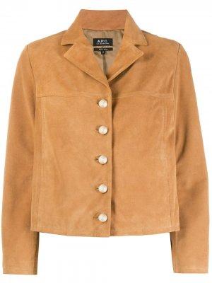 Куртка на пуговицах с заостренными лацканами A.P.C.. Цвет: нейтральные цвета