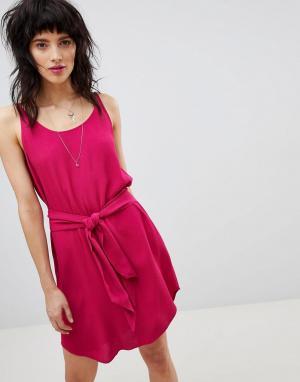 Платье на бретелях с завязкой BA&SH. Цвет: красный
