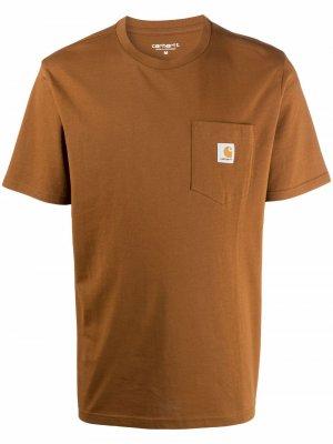Футболка с нашивкой-логотипом Carhartt WIP. Цвет: коричневый