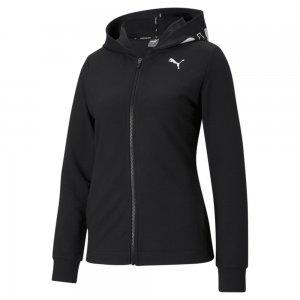 Толстовка Modern Sports Full-Zip Womens Hoodie PUMA. Цвет: черный