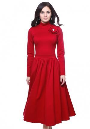 Платье Grey Cat ZARIMA. Цвет: красный