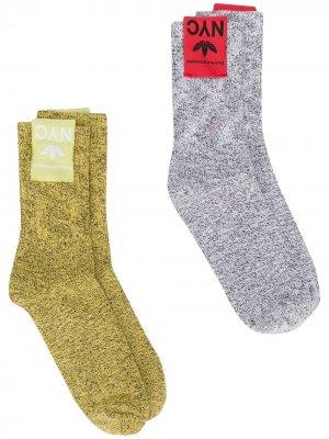 Трикотажные носки adidas Originals by Alexander Wang. Цвет: белый