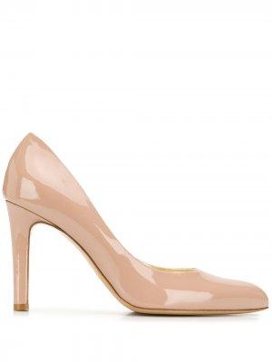 Лакированные туфли-лодочки Antonio Barbato. Цвет: нейтральные цвета
