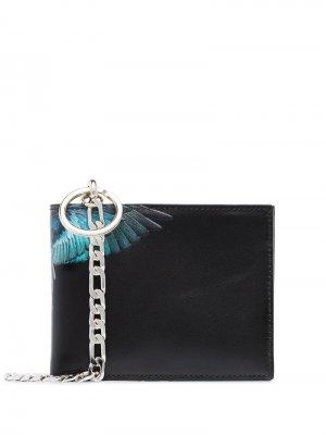 Бумажник Wings с принтом Marcelo Burlon County Of Milan. Цвет: черный