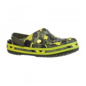 Сабо Crocband Seasonal Graphic Clog Crocs. Цвет: зеленый