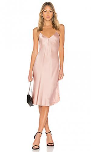 Платье майка на бретелях short NILI LOTAN. Цвет: розовый