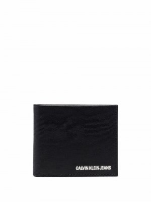 Бумажник с логотипом Calvin Klein Jeans. Цвет: черный