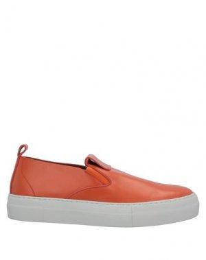 Кеды и кроссовки EMPORIO ARMANI. Цвет: оранжевый