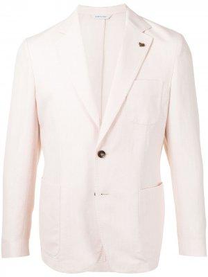 Однобортный пиджак Colombo. Цвет: розовый