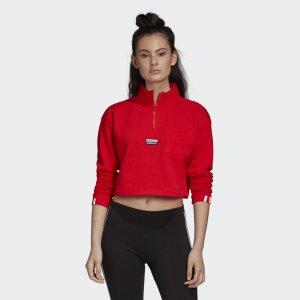 Укороченный свитшот Originals adidas. Цвет: красный
