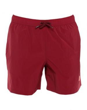 Шорты для плавания ASPESI. Цвет: красно-коричневый