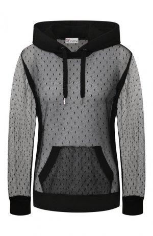 Пуловер с капюшоном REDVALENTINO. Цвет: черный