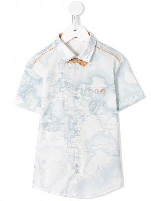 Рубашка с принтом Alviero Martini Kids. Цвет: синий