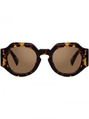 Солнцезащитные очки в геометричной оправе Linda Farrow