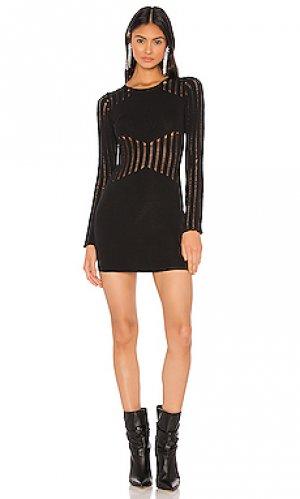 Вязаное мини платье starla superdown. Цвет: черный