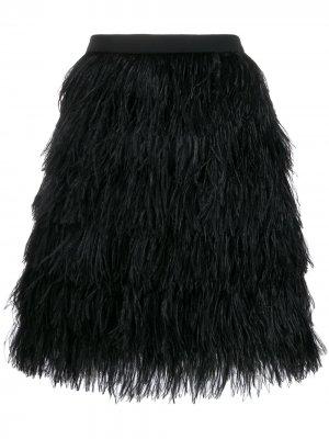 Фактурная юбка мини Gianluca Capannolo. Цвет: черный
