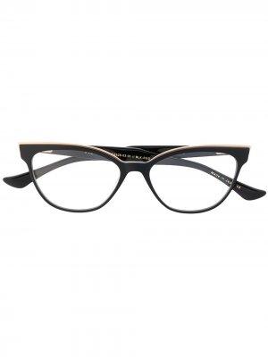 Очки в оправе кошачий глаз Dita Eyewear. Цвет: черный