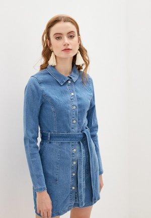Платье джинсовое Glamorous. Цвет: синий