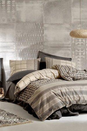 Single Quilt Cover Set, 1,5 sp Cotton box. Цвет: gray, beige, brown