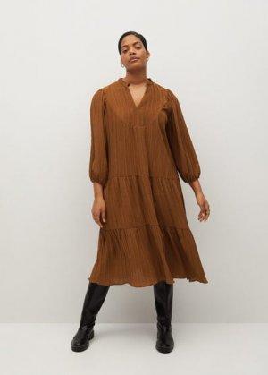 Расклешенное миди-платье - Anastasi Mango. Цвет: шоколадный